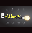 Work ideas concept creative light bulb design vector image vector image