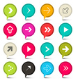 Colorful Arrows Set in Circles vector image