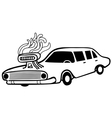 hot muscle car vector image