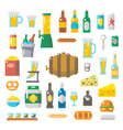 Flat design of beer items set vector image