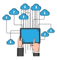 Cloud storage and computing service vector image