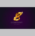 8 eight gold golden number numeral digit logo vector image vector image