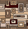 abstract coffee aborigine seamless pattern vector image vector image
