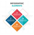 abstract colorful square business infographics vector image vector image