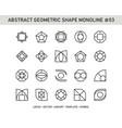 abstract geometric shape monoline 03