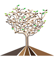 abstract tree template vector image vector image