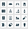 alcohol icons set with cigarette goblet beer vector image