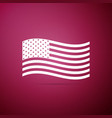 american flag icon on blue background flag of usa vector image vector image
