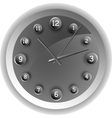 Analog clock The original design vector image