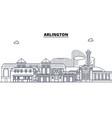 arlington united states outline travel skyline vector image vector image