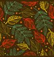 autumn leaves seamless pattern autumn background vector image