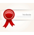 Background with red label vector image