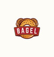 bagel logo template vector image