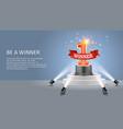 be a winner web banner poster design vector image vector image