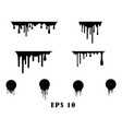 black dripping paint melting drip background vector image vector image