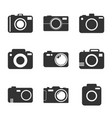camera icon set on white background in flat style vector image vector image