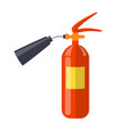 carbon dioxide extinguisher isolated vector image vector image