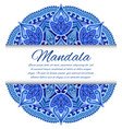 card with mandala card or invitation blue wedding vector image vector image