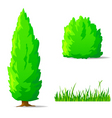 cartoon plants vector image vector image