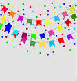 celebrate flags set vector image vector image
