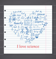 Chemistry and sciense elements doodles icons set vector image vector image