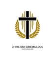 christian cinema logo vector image vector image