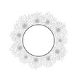 chrysanthemum outline banner wreath vector image vector image
