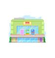 cinema urban building movie theater facade icon vector image vector image