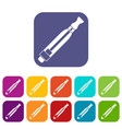 clearomizer icons set vector image vector image