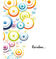 colorful rainbow circles vector image vector image