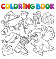 coloring book valentine theme 5 vector image