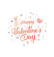 creative flyer of a valentine vector image vector image