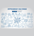 cryptocurrency concept hand drawn doodle designs vector image vector image