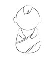 cute baby avatar character vector image vector image