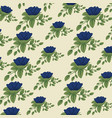 cute floral style with leaves background design vector image vector image