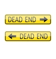 Dead End Signs vector image vector image
