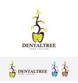 dental herbal logo design vector image vector image