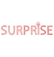 doodle surprise lettering word sketch vector image