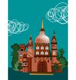 fantasy palace vector image