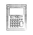 figure calculator object school education design vector image vector image