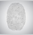 fingerprint made by binary code vector image vector image