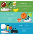 Fitness and a healthy lifestyle banners set vector image vector image