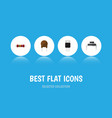 flat icon device set of destination triode vector image vector image