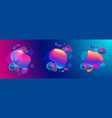 fluid design graphic elements dynamic background vector image