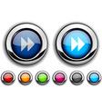 Forward button vector image vector image
