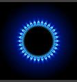 gas on dark vector image vector image