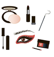 Gothic Make up details vector image vector image