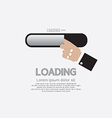Hand With Loading Status vector image vector image