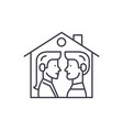 house for two line icon concept house for two vector image vector image