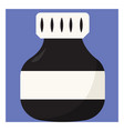 ink bottle on white background vector image vector image